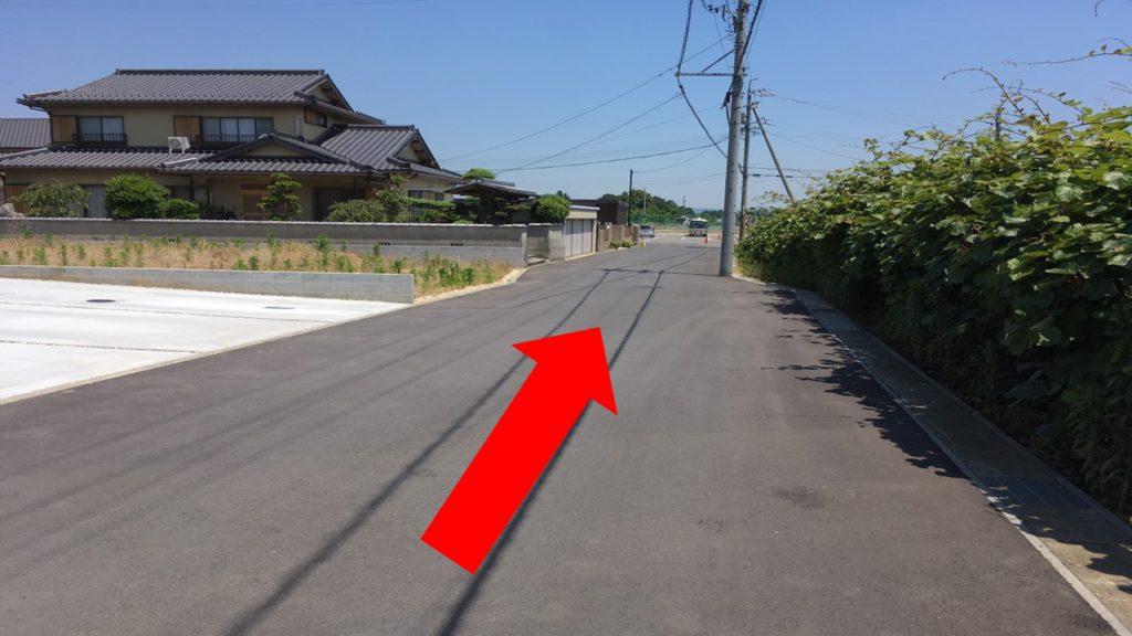 バス停からの道順(3)